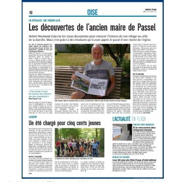 The discoveries of the former mayor of Passel | Courrier Picard August 12, 2018
