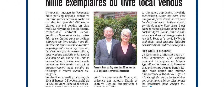Mille Exemplaires du livre local vendus | Le Noyonnais | Courrier Picard 24 Novembre 2018